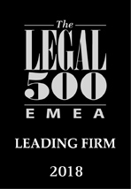 The Legal 500 - Leading Firm 2018