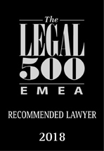 The Legal 500 - Recommended Lawyer 2018